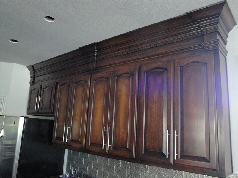 custom kitchen glazing cabinets